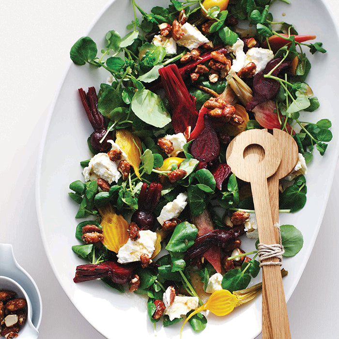 Goat's Cheese, Beetroot and Almond Salad