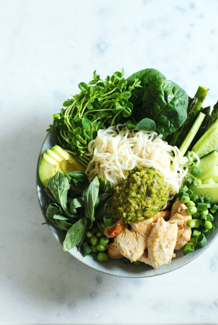 Green Chicken Noodle Salad