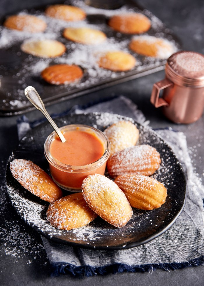 Blood Orange Madeleines with Blood Orange Curd | Harris Farm
