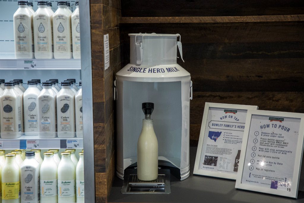 harris farm lindfield milk on tap