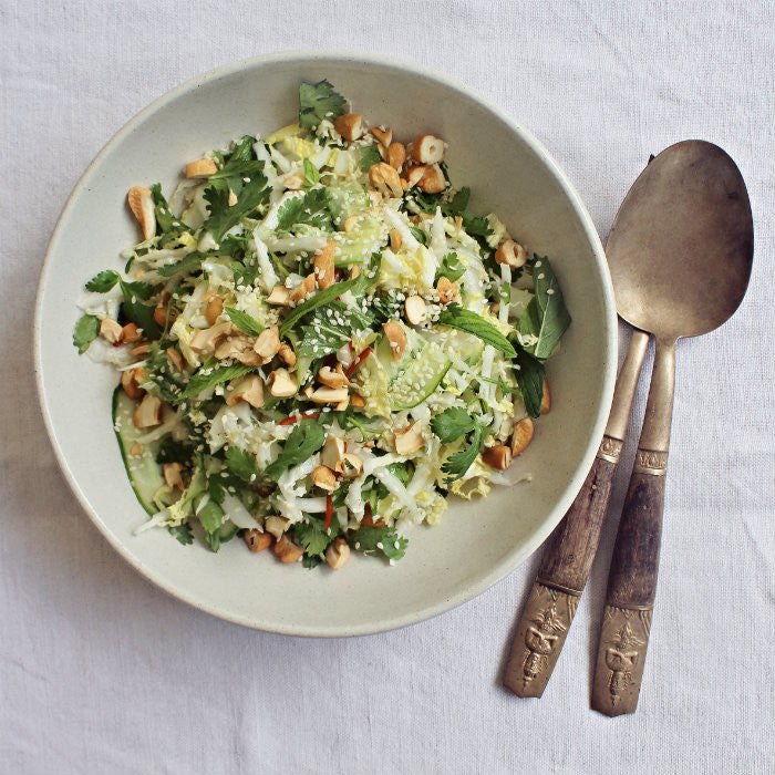 Chinese Cabbage, Mint and Sesame Slaw