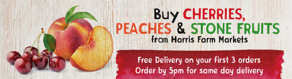 Buy Fresh Cherries, Peaches and Stone Fruits From Harris Farm Markets