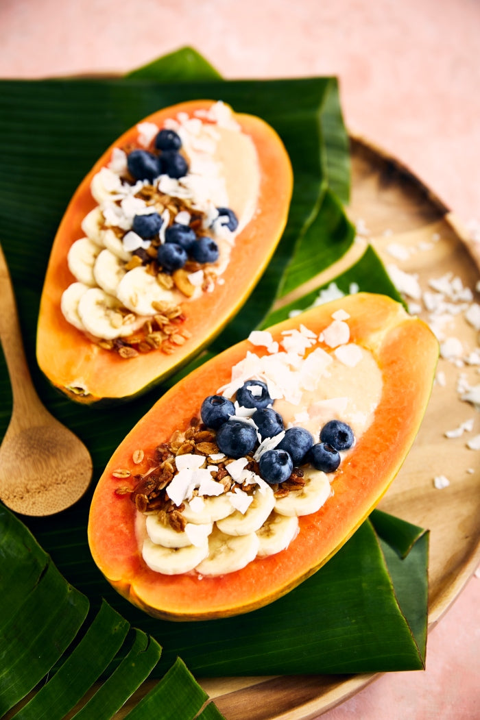 Papaya smoothie bowl recipe
