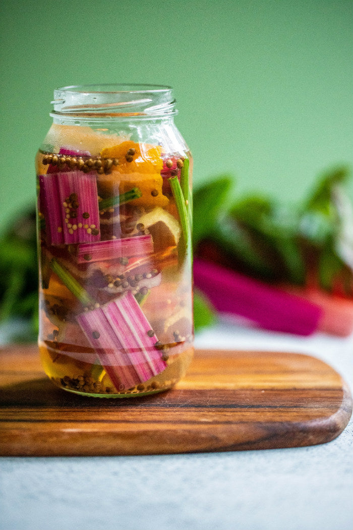 Pickled Green Stems recipe