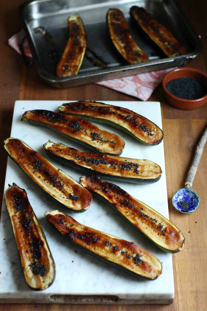 Roasted Zucchini with Miso Recipe