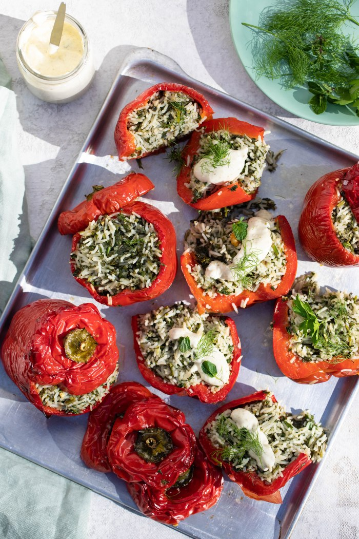 Stuffed Red Capsicums | Harris Farm