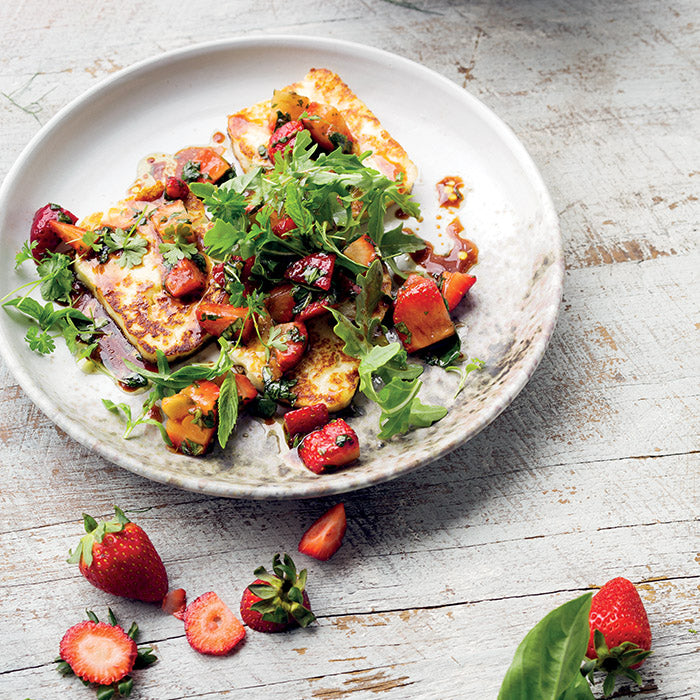 Haloumi with Strawberry Salsa