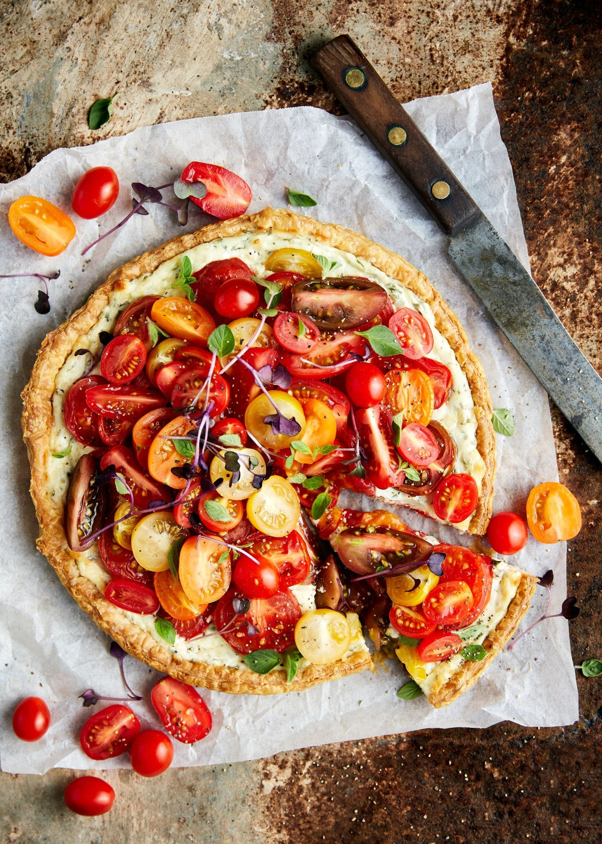 Snacking Tomato and Goats Cheese Tart | Tomato Recipes | Harris Farm Markets