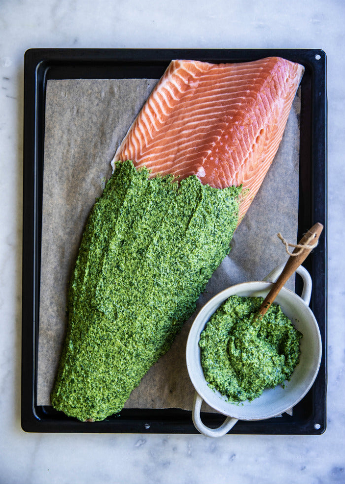 Christmas salmon recipe