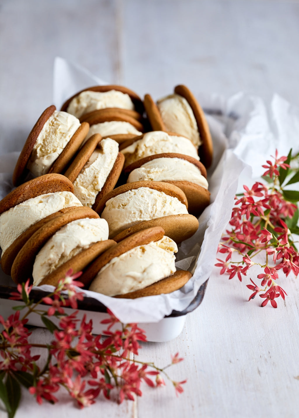 Charlotte Ree's Gingerbread Ice Cream Sandwiches