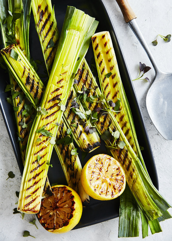 sweet grilled leeks recipe
