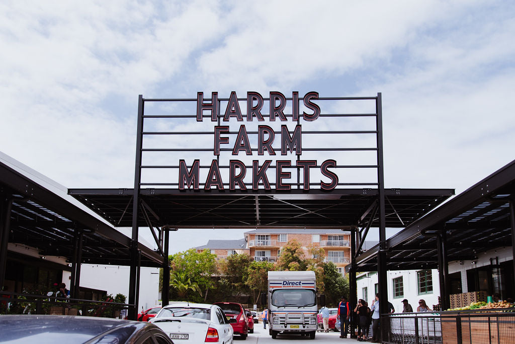 harris farm darby st cooks hill newcastle outdoor signage