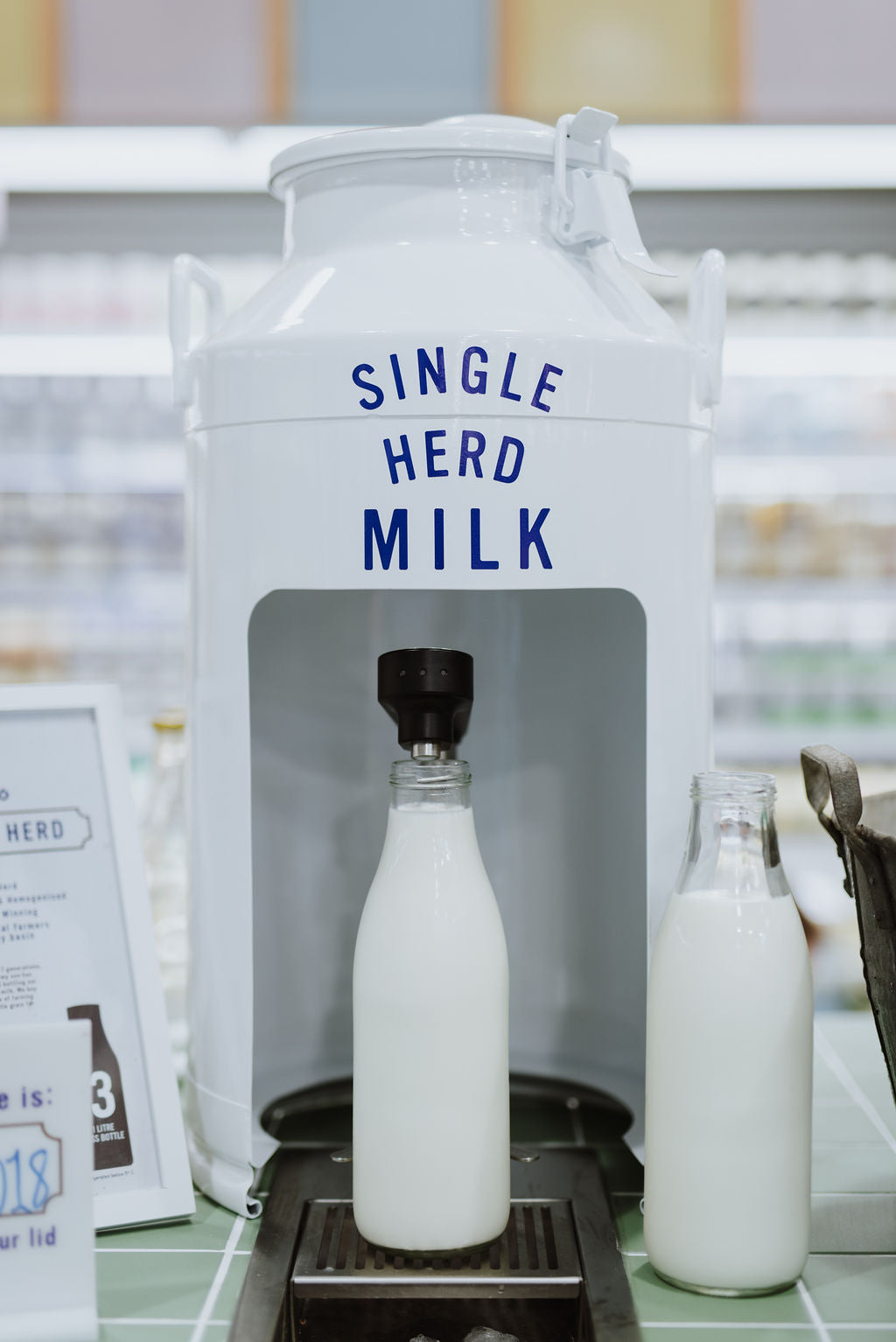 harris farm darby st cooks hill poor your own milk on tap