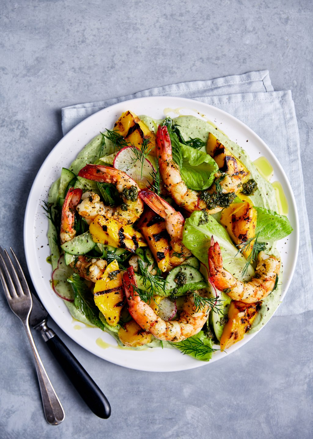 Herbed Prawn & Grilled Kensington Pride Mango Salad