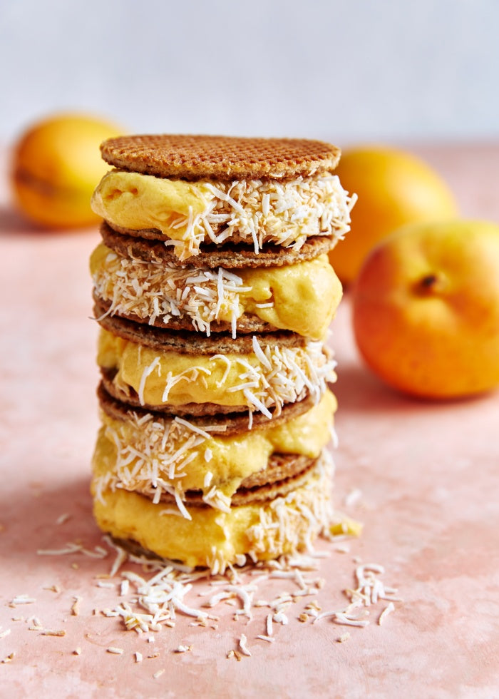 mango coconut sorbet sandwich recipe