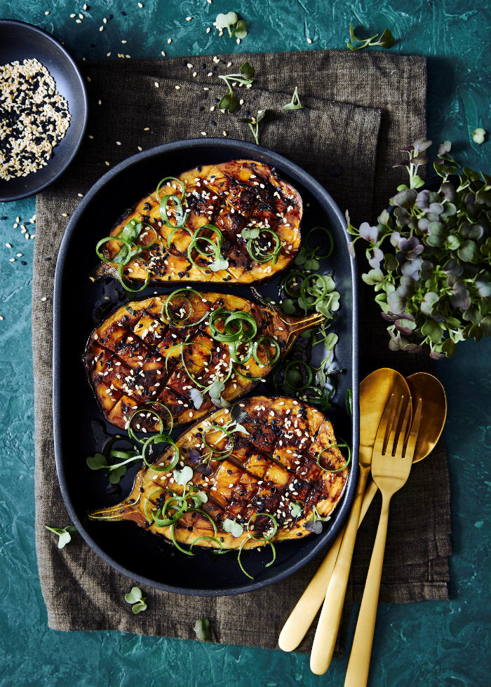 miso glazed eggplant recipe