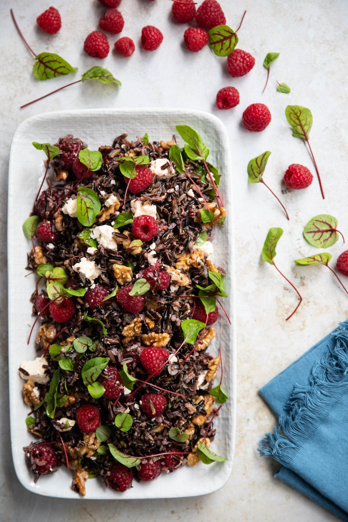 Wild Rice and Raspberry Salad with Toasted Walnuts, Feta and Raspberry Dressing | Harris Farm Markets
