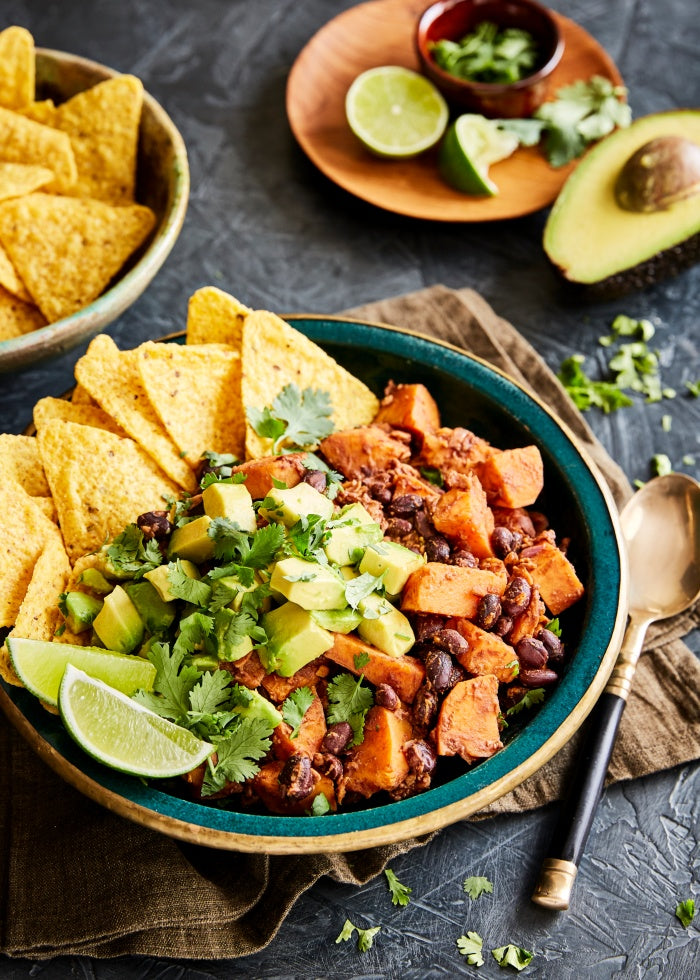 Black Bean, Tempeh and Sweet Potato Chilli recipe