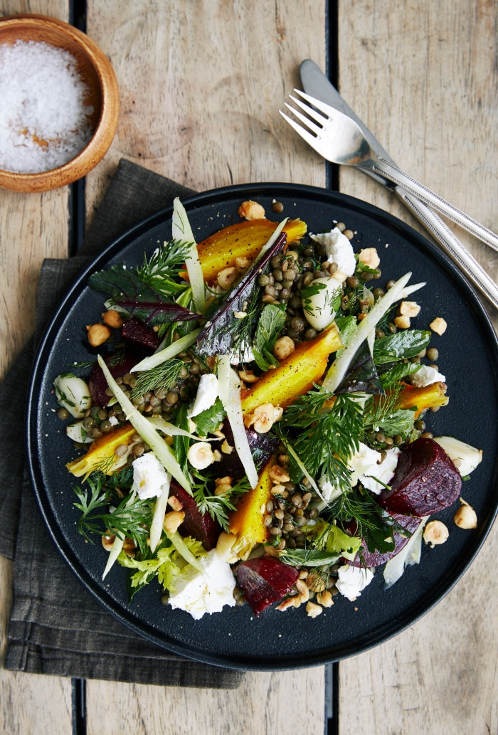warm roast beetroot salad recipe