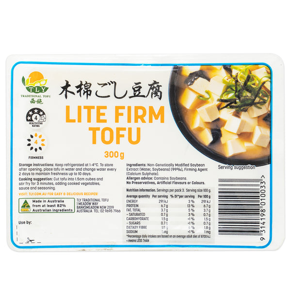 TLY Lite Firm Tofu | Harris Farm Online