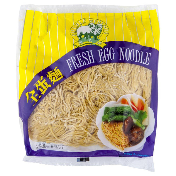 Double Merinos Fresh Egg Noodle 375g , Frdg3-Asian - HFM, Harris Farm Markets  - 1
