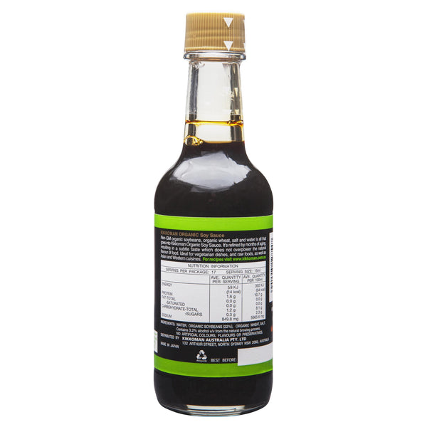 Kikkoman Organic Soy Sauce 250ml , Grocery-Asian - HFM, Harris Farm Markets  - 2