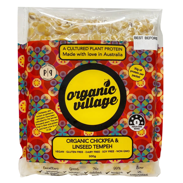 Organic Village -  Tempeh - Organic Chickpea and Linseed (300g)