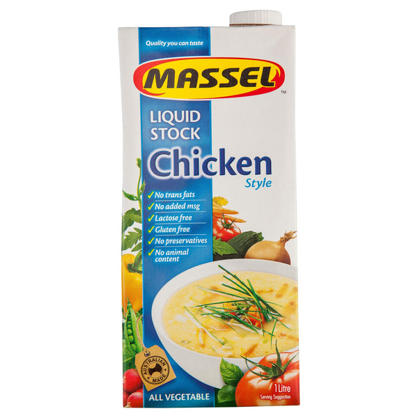 Massel Chicken Stock Liquid 1l , Grocery-Cooking - HFM, Harris Farm Markets  - 1