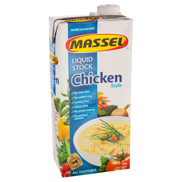 Massel Chicken Stock Liquid 1l , Grocery-Cooking - HFM, Harris Farm Markets  - 2