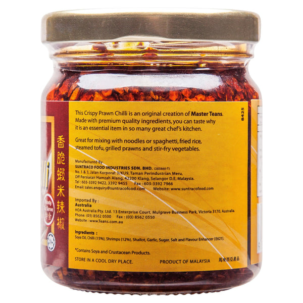 Teans Crispy Prawn Chilli Sauce 170g , Grocery-Asian - HFM, Harris Farm Markets  - 3