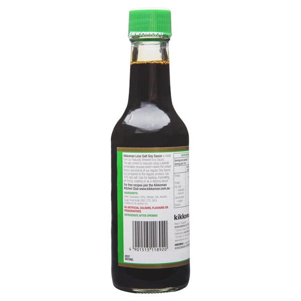 Kikkoman Less Salt Soy Sauce 250ml , Grocery-Asian - HFM, Harris Farm Markets  - 2