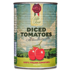 Villa Rossi Diced Tomatoes 400g , Grocery-Can Veg - HFM, Harris Farm Markets  - 1