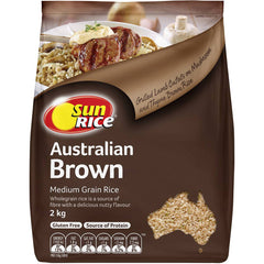 Sunrice - Rice Medium Grain - Brown Rice (2kg)