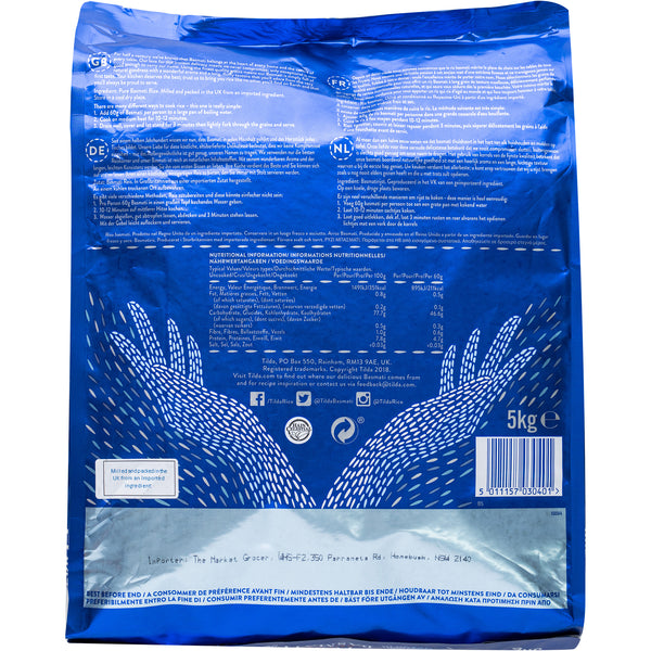 Tilda Grand Extra Long Basmati Rice 5kg