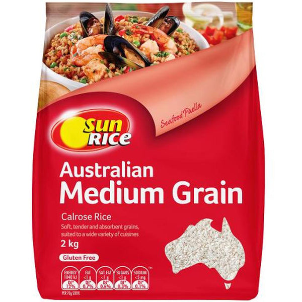 SunRice White Medium Grain Calrose Rice | Harris Farm Online