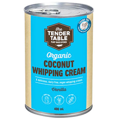 The Tender Table Organic Coconut Vanilla Whipping Cream | Harris Farm Online