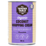 The Tender Table Organic Coconut Chocolate Whipping Cream | Harris Farm Online
