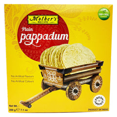 Mothers Recipe - Plain Pappadum (200g)