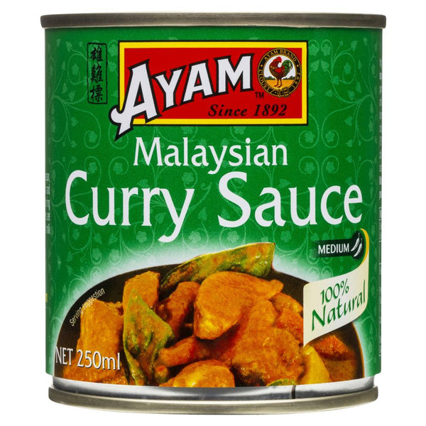Ayam Malaysian Curry Sauce 250ml , Grocery-Asian - HFM, Harris Farm Markets - 1Ayam - Sauce Malaysian Curry (Medium Hot) | Harris Farm Online