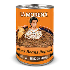 La Morena Black Beans Refried 440g