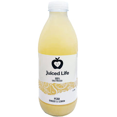Juiced Life Cold Pressed Pear Ginger and Lemon Juice | Harris Farm Online
