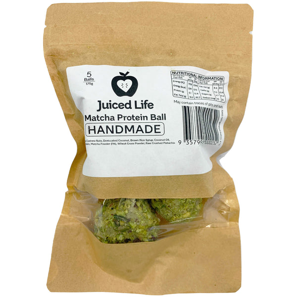 Juiced Life Matcha Protein Ball | Harris Farm Online