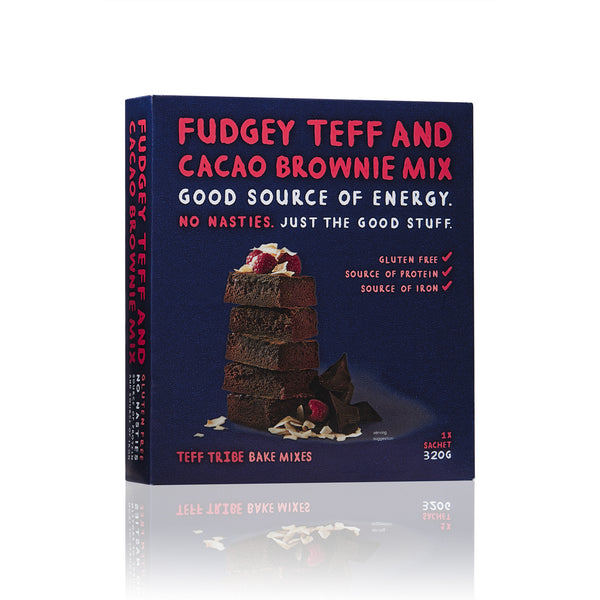 Fudgey Teff - Cacao Brownies Mix (320g)