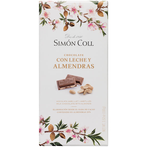 Simon Coll Milk Chocolate with Almonds | Harris Farm Online