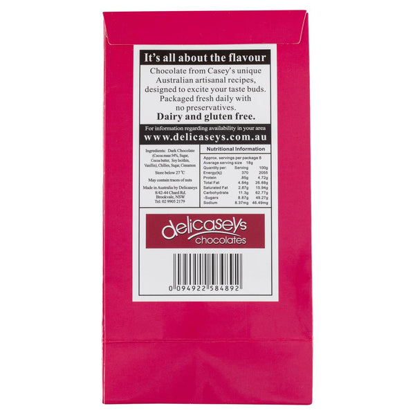 Delicaseys Dark Chocolate Chilli Bark 140g , Grocery-Confection - HFM, Harris Farm Markets  - 2