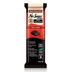 Well Naturally - Dark Chocolate Bar - Rich Dark (45g)