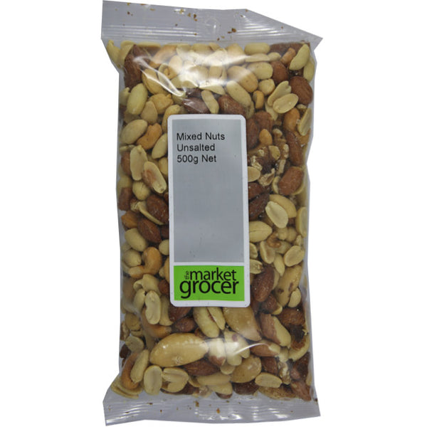 The Market Grocer - Nuts Mixed - Unsalted (500g)