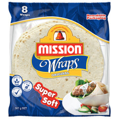 Mission - Bread Wraps - Original (8 Wraps, 567g)