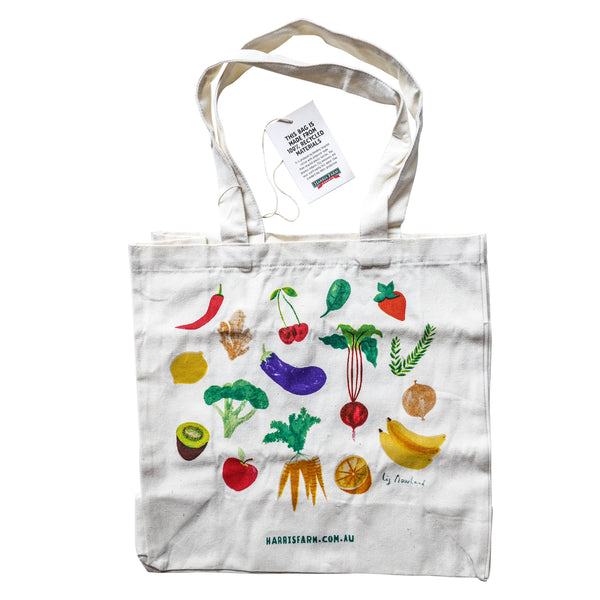 Harris Farm - Tote Carry Bag - Veggie Print (1 x Reusable Bag)