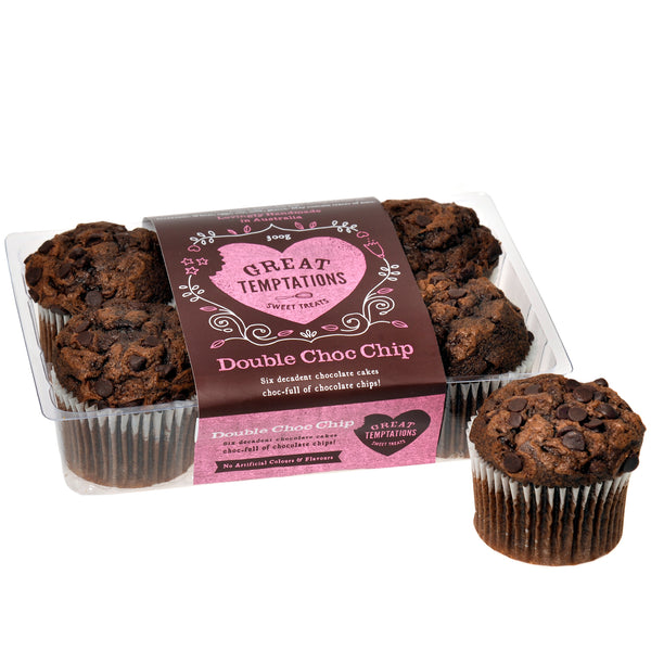 Great Temptations Double Choc Chip Cupcakes | Harris Farm Online